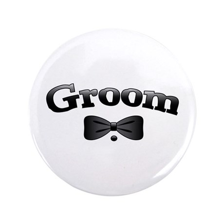 "Tuxedo Groom 3.5"" Button (100 pack)"