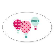 Hot Air Balloon Hearts Decal