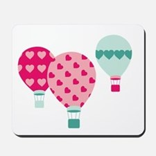 Hot Air Balloon Hearts Mousepad