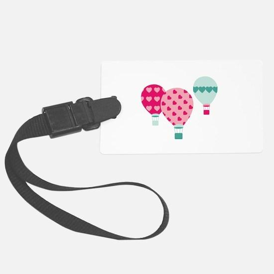 Hot Air Balloon Hearts Luggage Tag