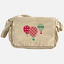 Hot Air Balloon Hearts Messenger Bag