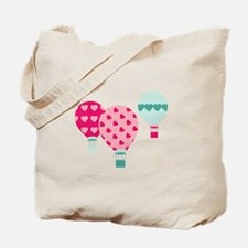 Hot Air Balloon Hearts Tote Bag