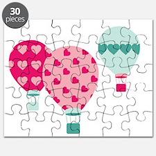 Hot Air Balloon Hearts Puzzle