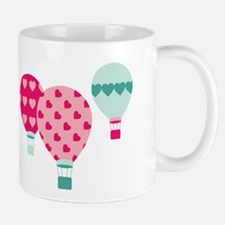 Hot Air Balloon Hearts Mugs
