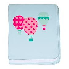 Hot Air Balloon Hearts baby blanket