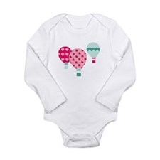 Hot Air Balloon Hearts Body Suit