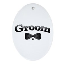 Tuxedo Best Man Ornament (Oval)