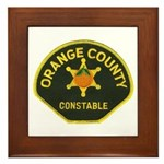 Orange County Constable Framed Tile