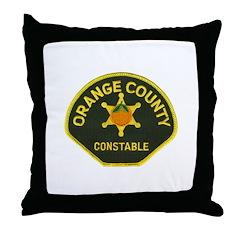 Orange County Constable Throw Pillow