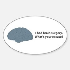 I had brain surgery. What's Oval Decal