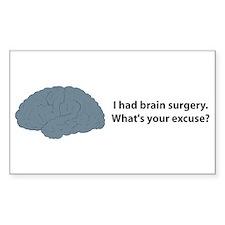 I had brain surgery. What's Sticker (Rectangular