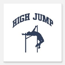 "High Jump Square Car Magnet 3"" x 3"""