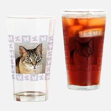 Hannah--Cat Portrait Drinking Glass