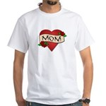 Mom Tattoo White T-Shirt