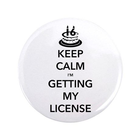 "Keep Calm 16 3.5"" Button"