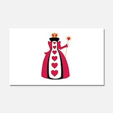 Queen Of Hearts Car Magnet 20 x 12