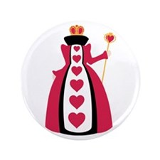 """Queen Of Hearts 3.5"""" Button (100 pack)"""