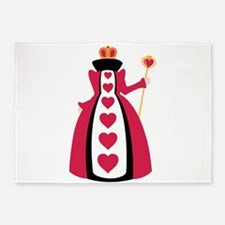 Queen Of Hearts 5'x7'Area Rug