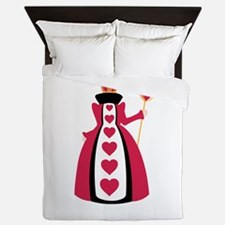 Queen Of Hearts Queen Duvet