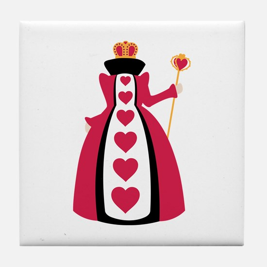 Queen Of Hearts Tile Coaster