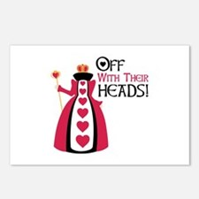OFF WITH THEIR HEADS! Postcards (Package of 8)
