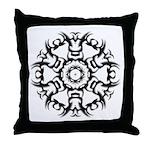Tattoo circle Throw Pillow