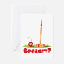 CROQUET? Greeting Cards