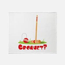 CROQUET? Throw Blanket