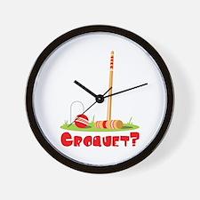 CROQUET? Wall Clock