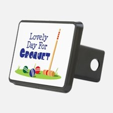Lovely Day For CROQUET Hitch Cover