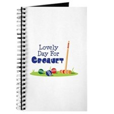 Lovely Day For CROQUET Journal