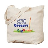 Croquet Regular Canvas Tote Bag