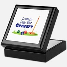 Lovely Day For CROQUET Keepsake Box