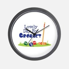 Lovely Day For CROQUET Wall Clock