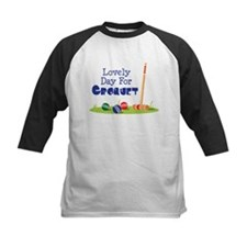Lovely Day For CROQUET Baseball Jersey