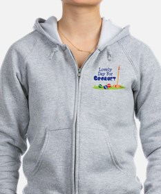 Lovely Day For CROQUET Zip Hoodie