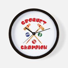 CROQUET CHAMPION Wall Clock