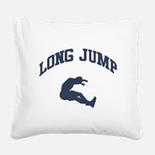 Long Jump Square Canvas Pillow