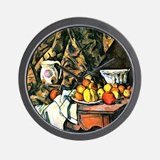 Cezanne - Still Life with Flower Holder Wall Clock