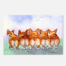 Five Corgi butts Postcards (Package of 8)