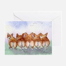 Five Corgi butts Greeting Cards