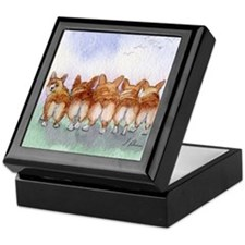 Five Corgi butts Keepsake Box
