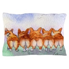 Five Corgi butts Pillow Case