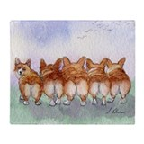 Corgi Fleece Blankets