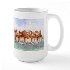 Five Corgi butts Mugs