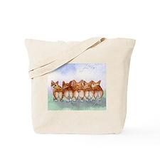 Five Corgi butts Tote Bag