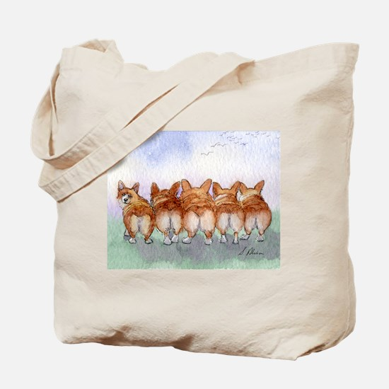 Five Corgi butts Tote Bag