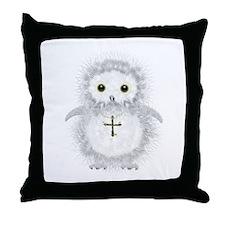 Baby snow owl David Throw Pillow