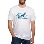 Blue dragon tattoo Fitted T-Shirt