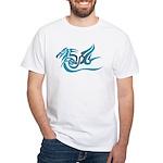 Blue dragon tattoo White T-Shirt